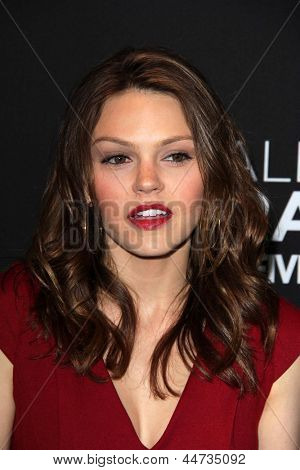 """LOS ANGELES - APR 16:  Aimee Teegarden arrives at the """"Call Me Crazy: A Five Film"""" Premiere at the Pacific Design Center on April 16, 2013 in West Hollywood, CA"""