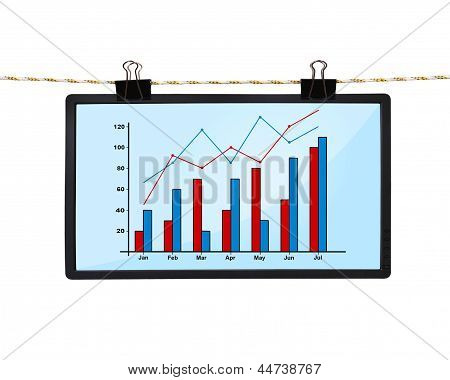 Screen With Chart