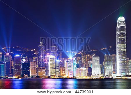 Hong Kong city view at night