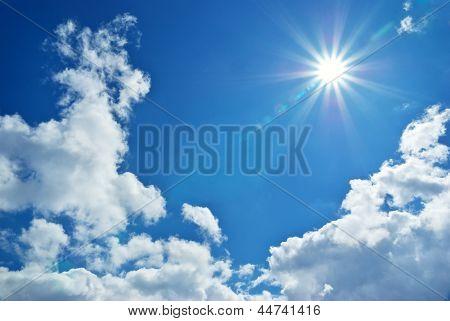 Blue deep sky. Nature composition.