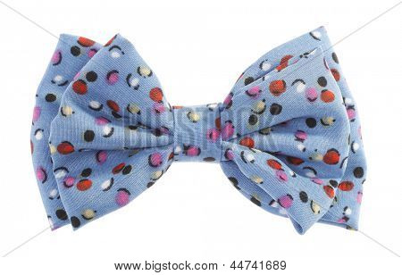 Dotted bow tie blue with multicolor spots