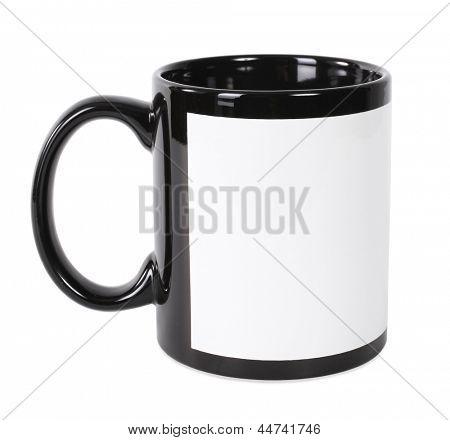 Black and white mug for printing