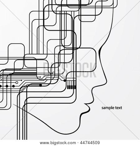 Fundo abstrato de placa de circuito