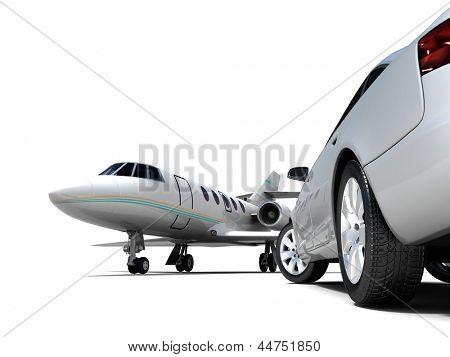 Luxury Transportation isolated on a white background