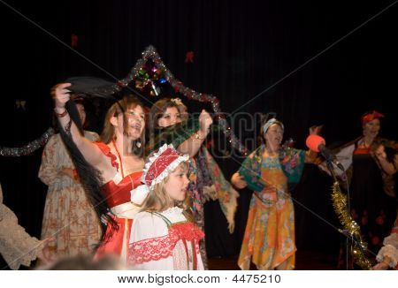 Russian Traditional Singing And Dancing
