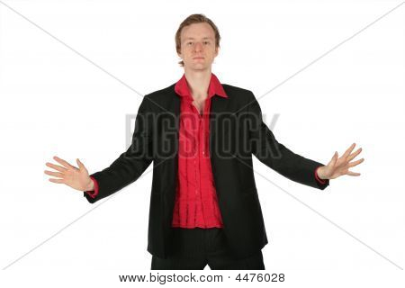 Young Man With Separated Hands