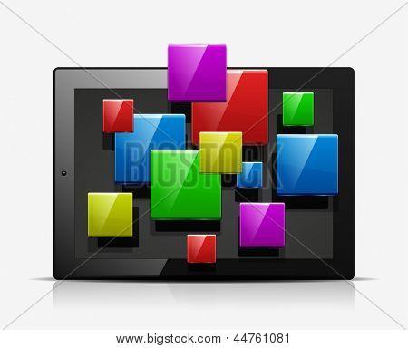 Mobiele toepassingen concept pictogram. Vector