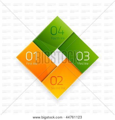 Modelo de projeto moderno feliz e colorido. Cores laranja e verdes