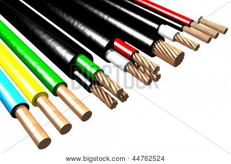 Photo of Electric cables (3D)