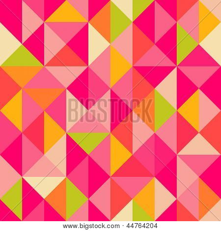 Triangles geometrical seamless pattern