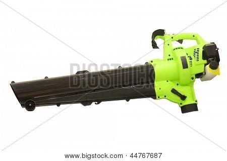 Leaf blower under the white background