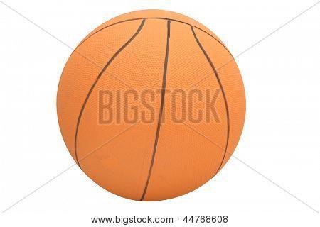 A imagem da bola isolada sob o fundo branco