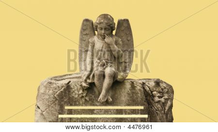 Angel On Gravestone