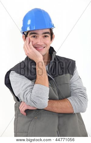 Portrait of a young tradesman