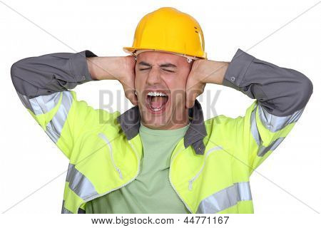Workers covered their ears
