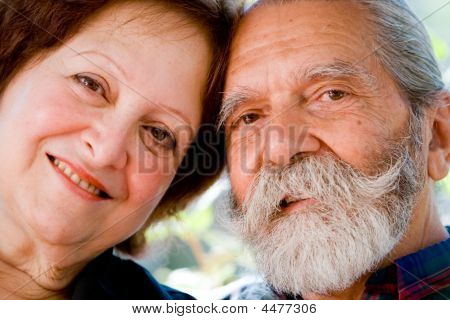 Old Happy Loving Couple