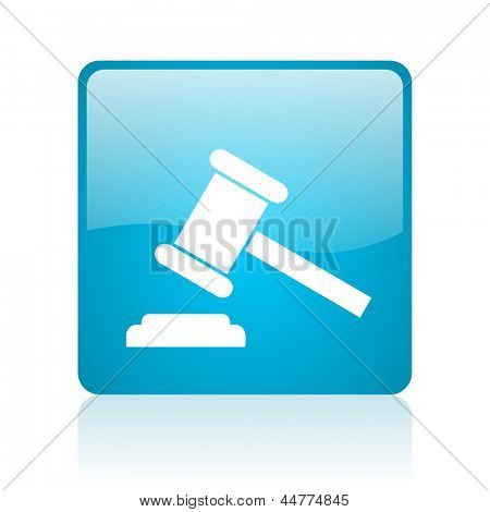 law blue square web glossy icon