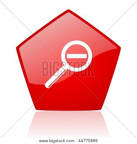 magnification red web glossy icon