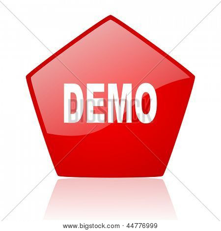 demo red web glossy icon