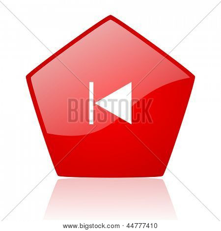 prev red web glossy icon