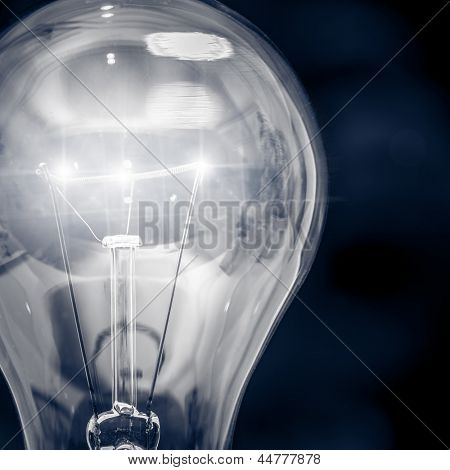 A light bulb close up