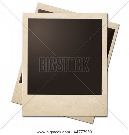 Vintage instant photo polaroid frames isolated. Clipping path without shadows is included.