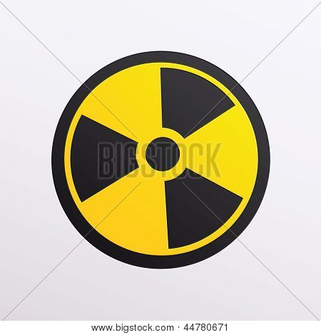 illustration of radiation symbol