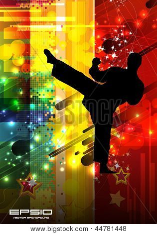 Karate illustration. Vector