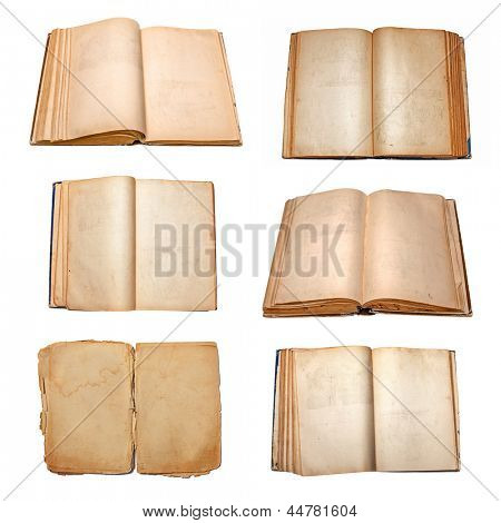 books set isolated on white background