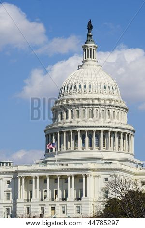 US Capitol Building dome detail in Washington DC United States