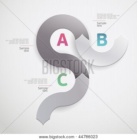 Infografic in a circle shape