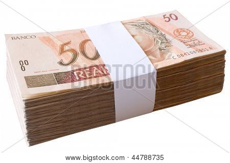 Photo of Bills, 50 Reais - Brazilian money