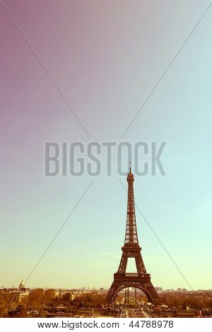 The Eiffel Tower (nickname La dame de fer, the iron lady),The tower has become the most prominent symbol of both Paris and France