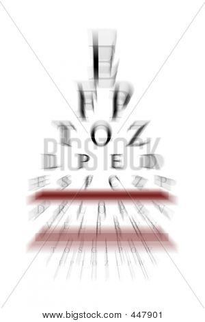 Eye Chart With Zoom Effect