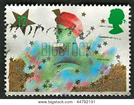 UK - CIRCA 1985: A stamp printed in UK shows image of The Christmas. Pantomime Characters, circa 1985.