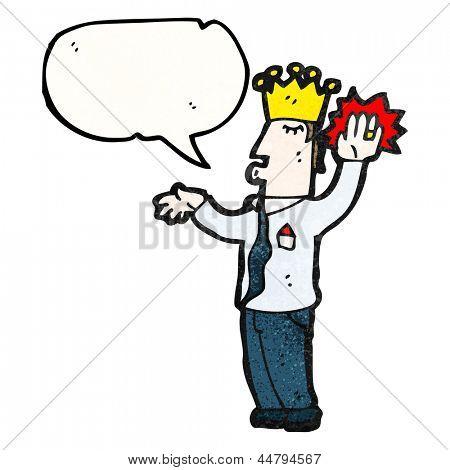 cartoon prince swearing royal