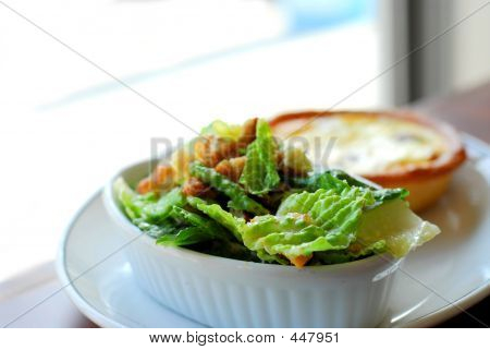 Caesar Salad And Quiche
