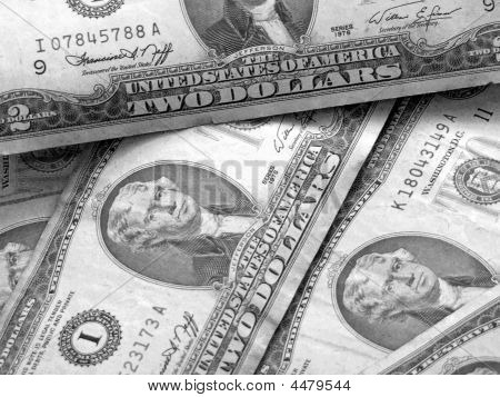 American Two Dollar Bills