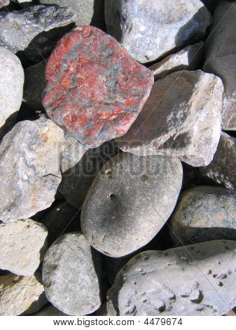 different stones.