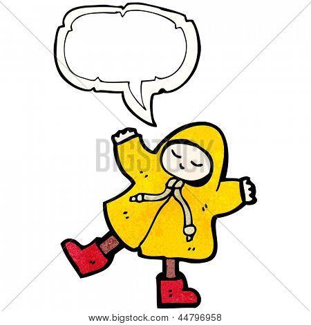 cartoon man in raincoat