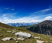 stock photo of himachal pradesh  - Travel Himalayas background - JPG