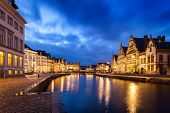 foto of nightfall  - Travel Europe Belgium background  - JPG