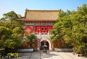 picture of lantau island  - Interior of the Po Lin monastery on Lantau Island  - JPG