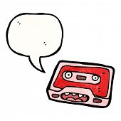 retro cassette tape cartoon character