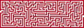 foto of maze  - Simple Panoramic Maze Pattern Isolated on White Background - JPG