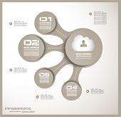 picture of pie  - Infographic design template with paper tags - JPG