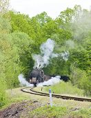 stock photo of former yugoslavia  - steam freight train in Tuzla region - JPG
