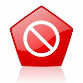 access denied red web glossy icon