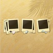 image of memento  - Set of Photo Frames on a Sandy Beach - JPG