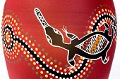stock photo of platypus  - Anonymous aboriginal art - JPG